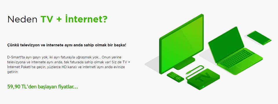 D-SMART Kampanya   İnternet & TV Paketleri   0 850 480 22 66